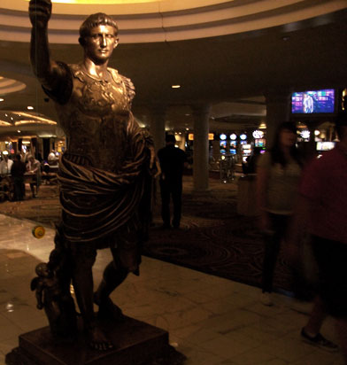 Julius Caesar with a yo-yo in Las Vegas, NV